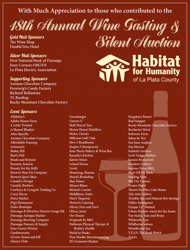 18th Annual Wine Tasting & Silent Auction
