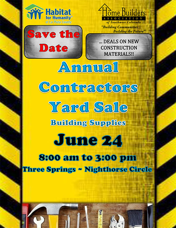 2017 Annual Contractors Yard Sale