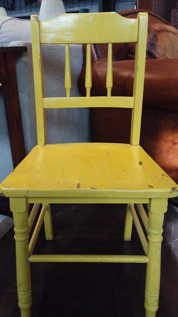 Child's Yellow Wooden Chair