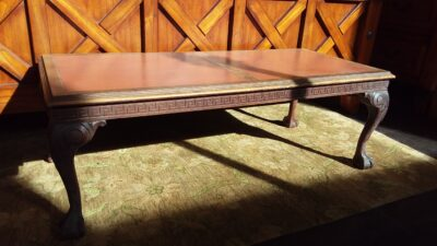 Coffee Table with Leather Top