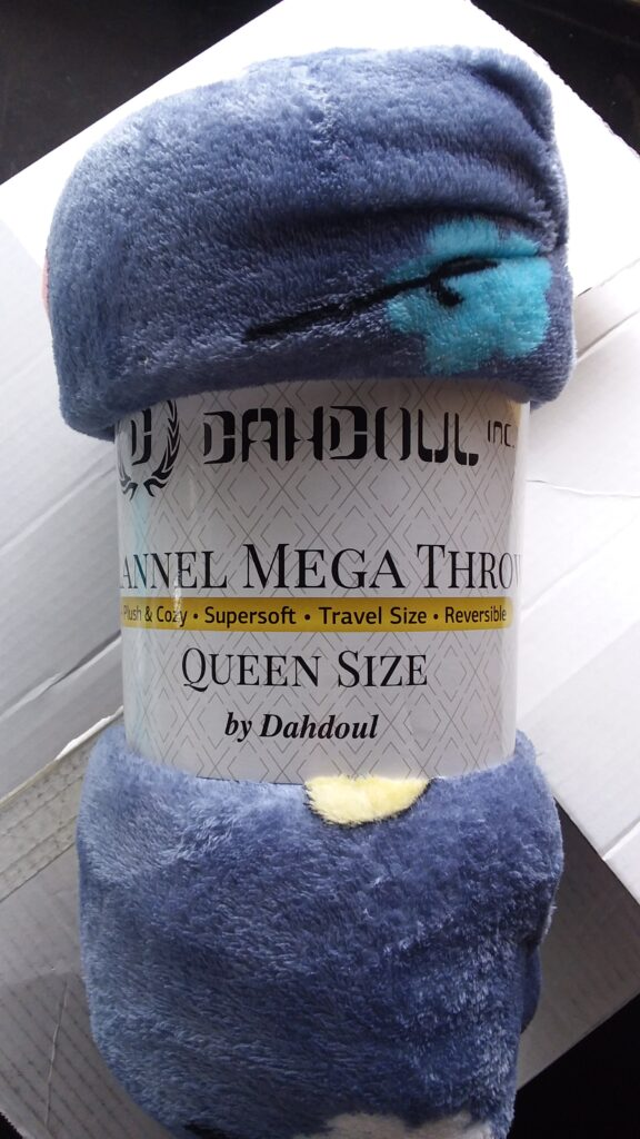 Blue, queen size, super soft blanket
