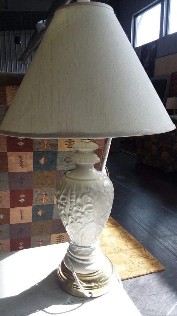 Table Lamp - Ceramic & Metal Base - Set of 2