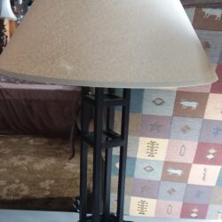 Table Lamp - Tan Shade & Metal Base
