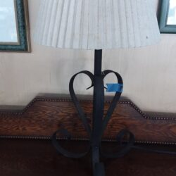 Table Lamp - White Shade & Metal Base