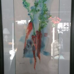 Framed Watercolor - Carrots