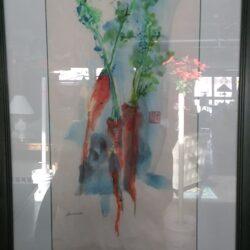 Framed Watercolor - Carrots