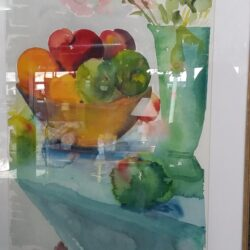 Framed Watercolor - Fruit