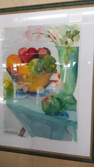 Framed Watercolor - Fruit