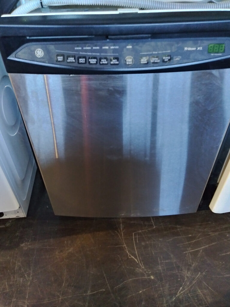GE Dishwasher, Black and Silver