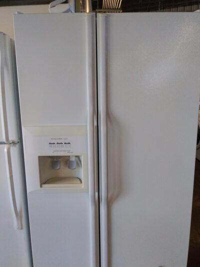 KitchenAid Supers Side by Side White Fridge